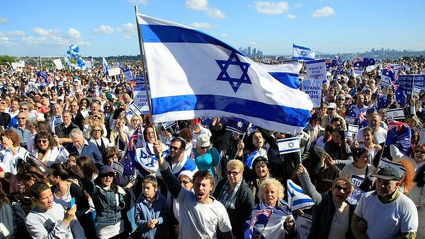 Israel supporters rally in Australia
