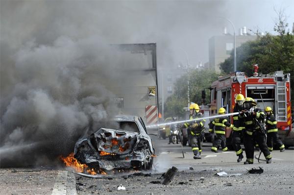 Ашдод после обстрела(Фото DAVID BUIMOVITCH/AFP/Getty Images)